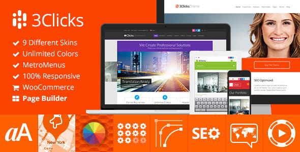 3Clicks - Responsive Multi-Purpose WordPress Theme v3.11