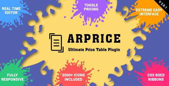 ARPrice v2.6.1 - Responsive Pricing Table Plugin for WordPress