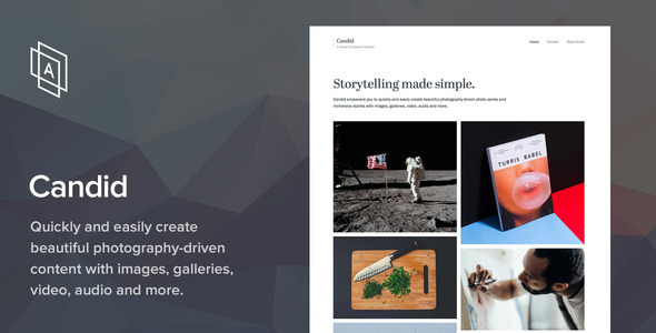 Candid v1.6.4 - WordPress Photography Theme