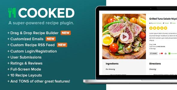 Cooked v2.4.3 – A Super-Powered Recipe Plugin