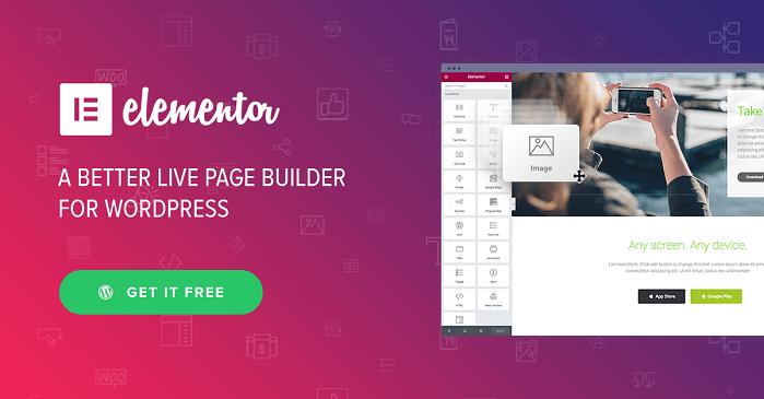 Elementor Pro v1.8.2 – Drag & Drop Live Page Builder For WordPress