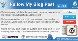 Follow My Blog Post v1.8.1 – WordPress Plugin
