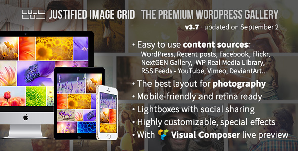 Justified Image Grid v3.7 – Premium WordPress Gallery