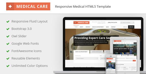 Medical Care v1.3 - Responsive Medical HTML5 Template