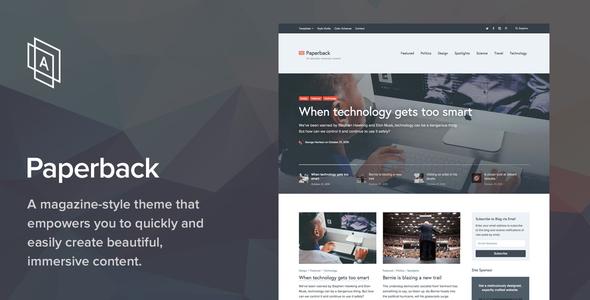Paperback v1.7.2 - Magazine WordPress Theme
