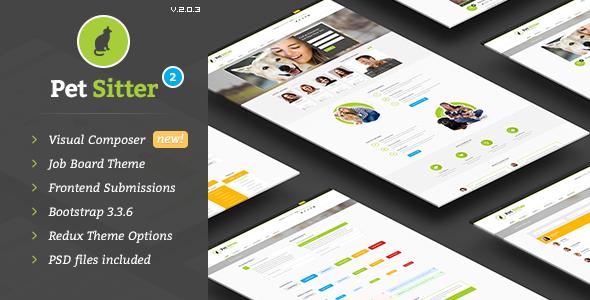 PetSitter v2.2.0 - Job Board Responsive WordPress Theme