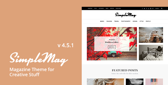 SimpleMag v4.5.1 - Magazine theme for creative stuff