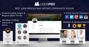 UserPro v4.9.15 – User Profiles with Social Login