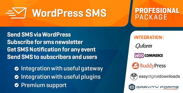 WP SMS Pro WordPress Plugin v2.2.7