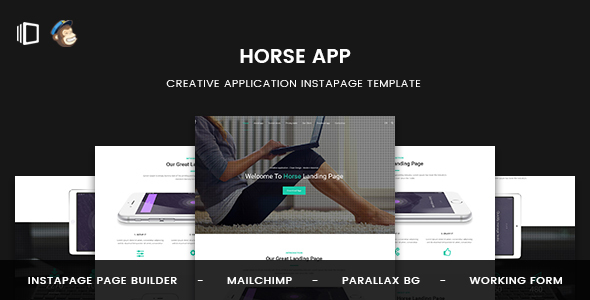 Horse App - Application Instapage Template