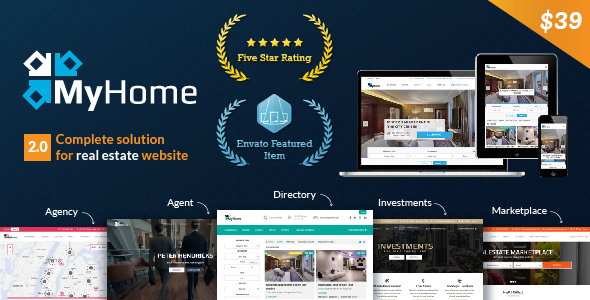 MyHome v2.0.1 - Real Estate WordPress Theme