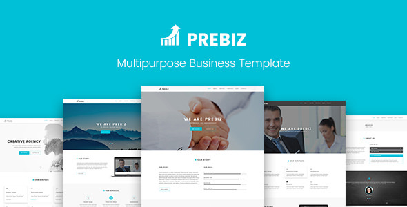 Prebiz - Multipurpose Corporate Business / Portfolio PSD Template