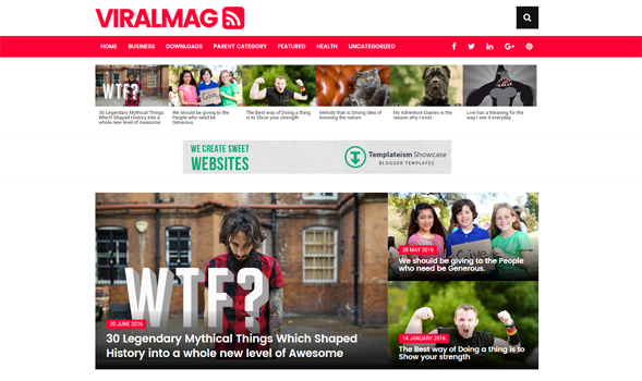 Viral Mag Responsive Blogger Template