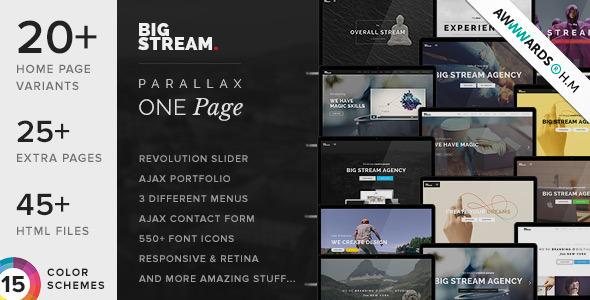BigStream v1.5.8 - One Page Multi-Purpose Template