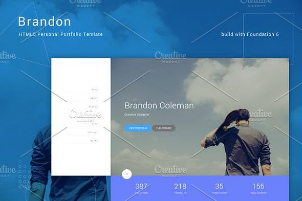 Brandon v1.0 - HTML5 Personal Template