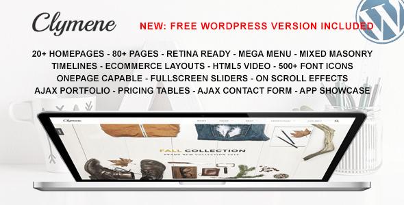 Clymene v1.3 - Multipurpose HTML5 Template