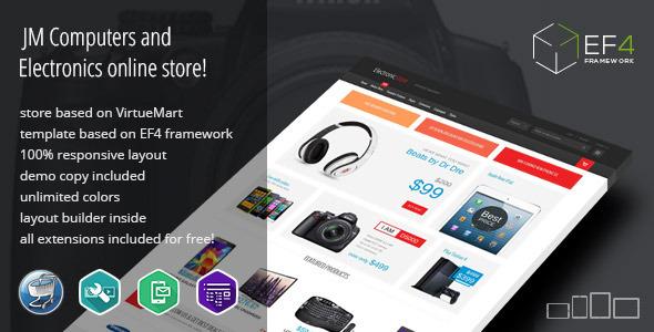 Electronics v1.10 - multipurpose VirtueMart online store