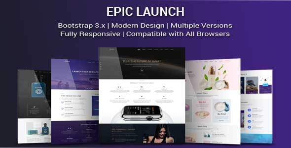 Epic Launch - High-Converting Landing Page Template