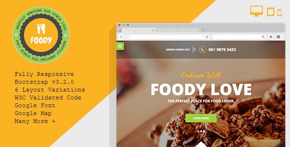 Foody v1.3.0 - Responsive Restaurant HTML5 Template