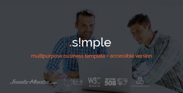 JM Simple v1.03 - multipurpose business Joomla template + accessible version