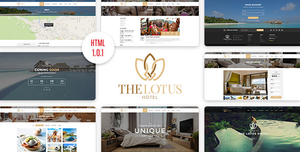 Lotus v1.0.1 - Hotel Booking HTML Template