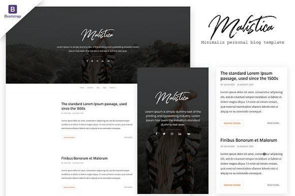 Malistica v1.0 - HTML Personal Blog