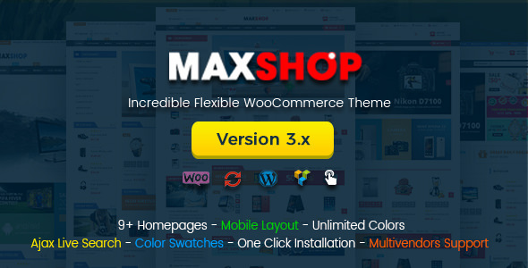 Maxshop v3.0.0 - Multi-Purpose Responsive WooCommerce Theme