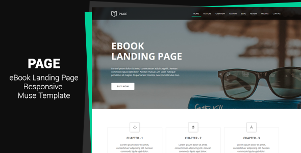 Page v1.0 - EBook Landing Page Muse Template