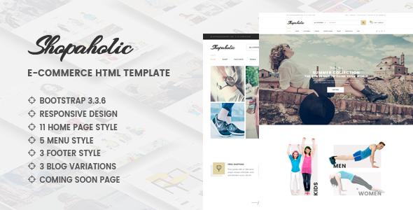 Shopaholic v1.0 - Responsive Multipurpose eCommerce HTML5 Template