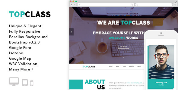 Top Class v1.2.0 - Multipurpose HTML5 Responsive Template
