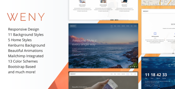Weny v1.5 - Responsive Coming Soon Template