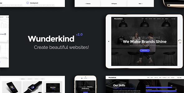 Wunderkind v2.1.3 - One Page Parallax Theme
