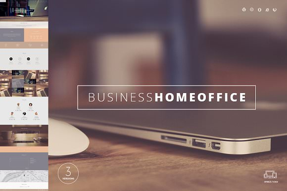 Home Office - One Page Template