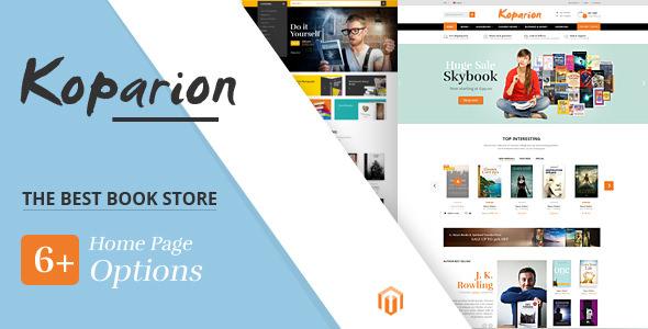 Koparion v1.0 - Book Shop Responsive Magento Theme