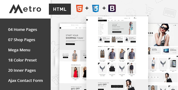 Metro - E-Commerce HTML5 Template