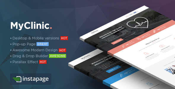 MyClinic - Medical Instapage Template