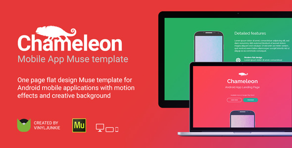Chameleon - Android App Promo Site Muse Template