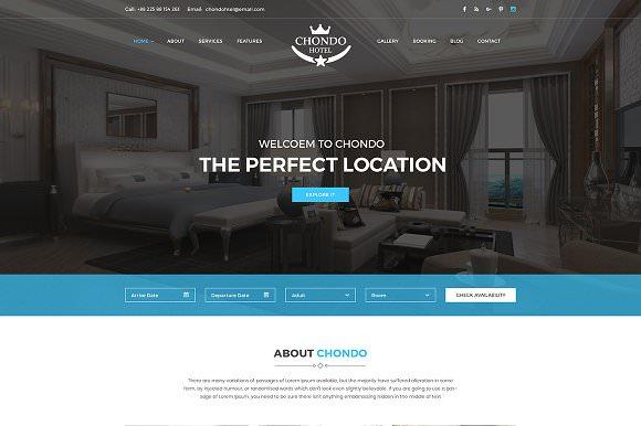 Chondo Resort & Hotel Template