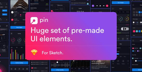 Pin UI Kit: Huge Set of UI Components