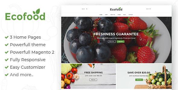 Ecofood - Responsive Organic Store Magento 2 Theme