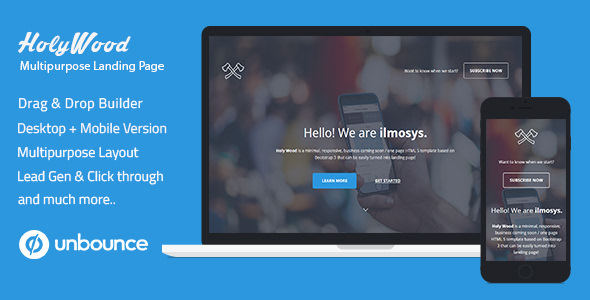Holy Wood v1.0 - Unbounce Multipurpose Landing Page Template