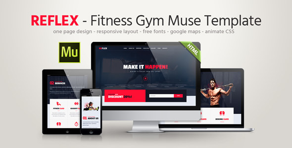 Reflex - Fitness Gym Muse Template