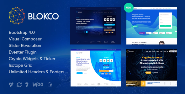Blokco v1.4.1 - ICO, Cryptocurrency & Consulting Business Theme