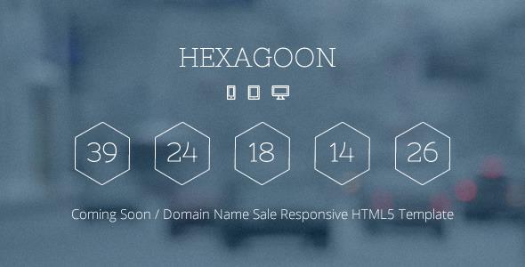 Hexagoon - Coming Soon / Domain Name Sale Template