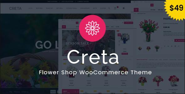 Creta v2.7 - Flower Shop WooCommerce WordPress Theme