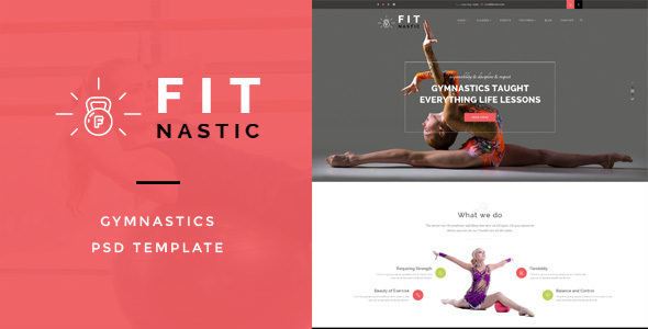 Fitnastic - Gymnastic PSD Template
