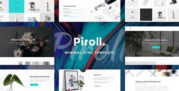 Piroll - Minimal and Modern Portfolio HTML Template